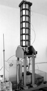 pneumatic ram on transmissivity test bench